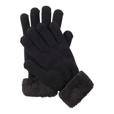 Damen-Handschuhe mit Teddy-Plüsch