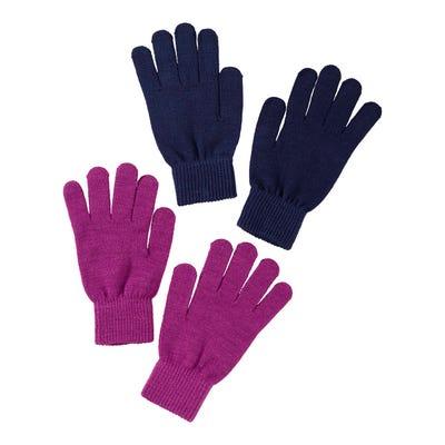 Damen-Handschuhe mit Ripp-Bündchen, 2er Pack