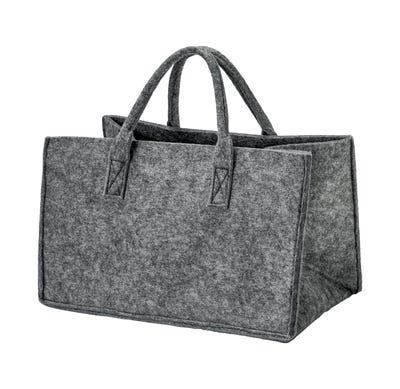 Filz-Tasche mit Henkel, ca. 40x25x25cm