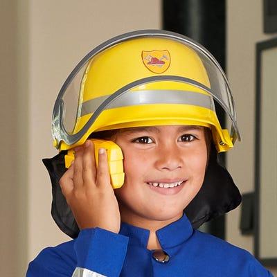 Kinder-Feuerwehrhelm mit Visier, ca. 28x22x14cm