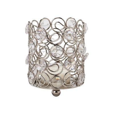 Kristall-Teelichthalter ohne Fuß, ca. 8x9cm