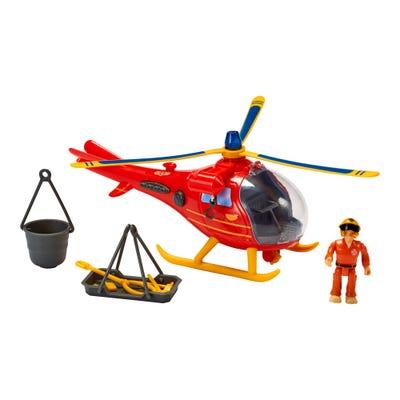 Sam Hubschrauber mit Figur, ca. 24cm