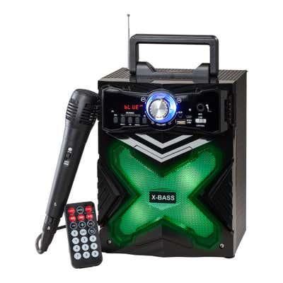 Bluetooth-Sound-Box mit Mikrofon, ca. 17x16x27cm