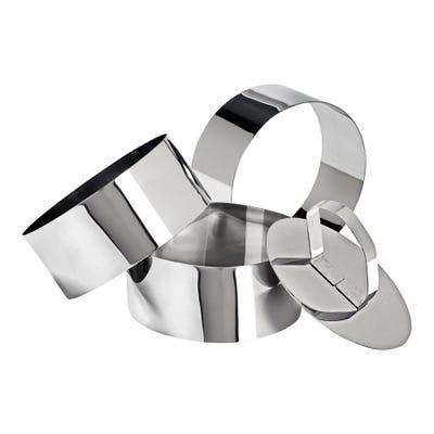 Speise-Ringe aus hochwertigem Edelstahl, ca. 9x4cm, 4er Pack