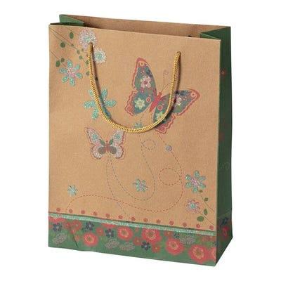 Geschenktüte aus Kraftpapier, ca. 25x19x8cm
