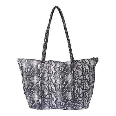 Damen-Handtasche mit Schlangenhaut-Muster, ca. 50x32x17cm
