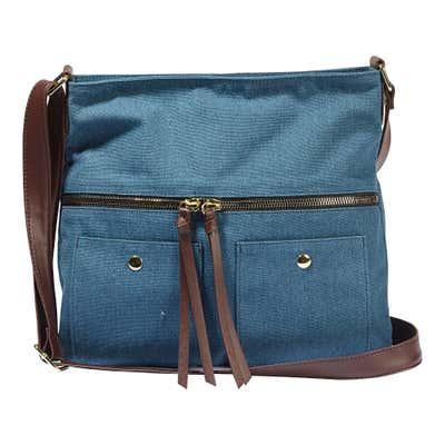 Damen-Handtasche in Jeans-Optik, ca. 29x28x7cm