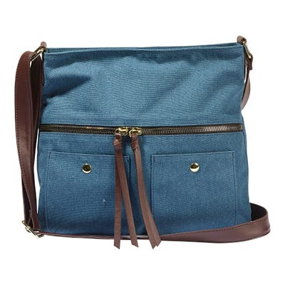 Damen-Handtasche in Jeans-Optik, ca. 29x28x7cm