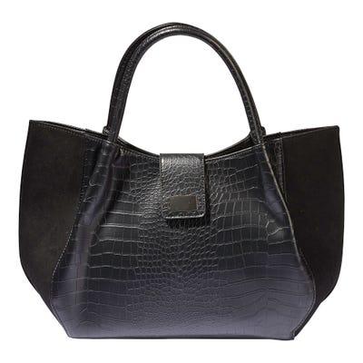 Damen-Handtasche mit Struktur-Muster, ca. 40x27x10cm