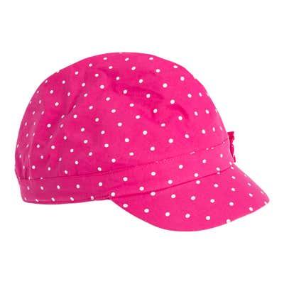 Mädchen-Kappe mit Punkte-Muster