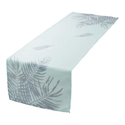 Tischläufer mit sommerlichen Palmblättern, ca. 40x140cm