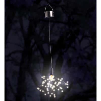 Solar-Hängeleuchte Feuerwerk mit langem Kabel, ca. 35cm