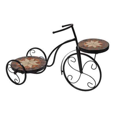 Mosaik-Fahrrad aus stabilem Metall, ca. 60x24x38cm