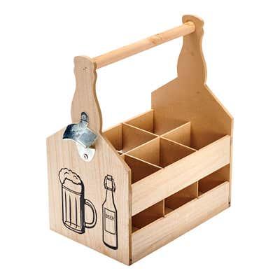 Träger für Flaschen mit praktischem Öffner, ca. 29x18x33cm