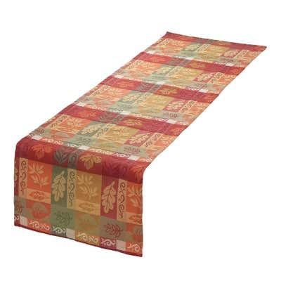Jacquard-Tischläufer mit herbstlichem Motiv, ca. 40x140cm