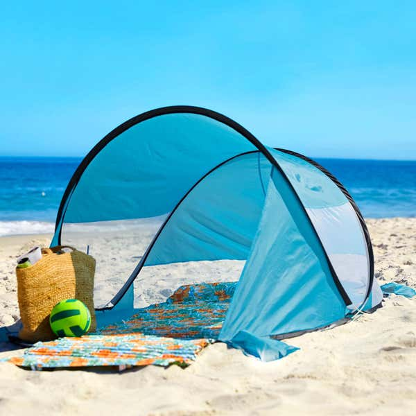 Strandmuschel mit hohem UV-Schutz, ca. 120x90x200cm