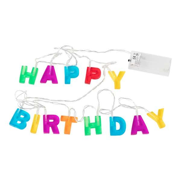 Happy-Birthday-Lichterkette, ca. 150cm