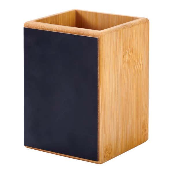 Bambus-Utensilienhalter, ca. 10x10x13,5 cm