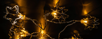 LED-Lichterkette mit 3D-Sternen, ca. 165cm