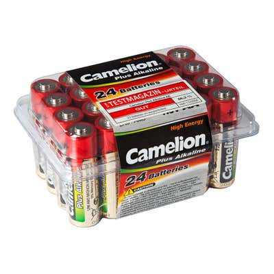 Camelion Batteriebox mit AA-Batterien, 24er-Pack