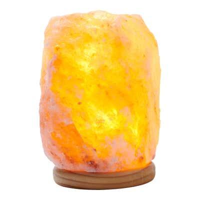 Salzkristall-Lampe mit einzigartiger Form, ca. 12x12x16cm
