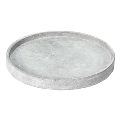 Deko-Platte aus Zement, Ø ca. 24cm