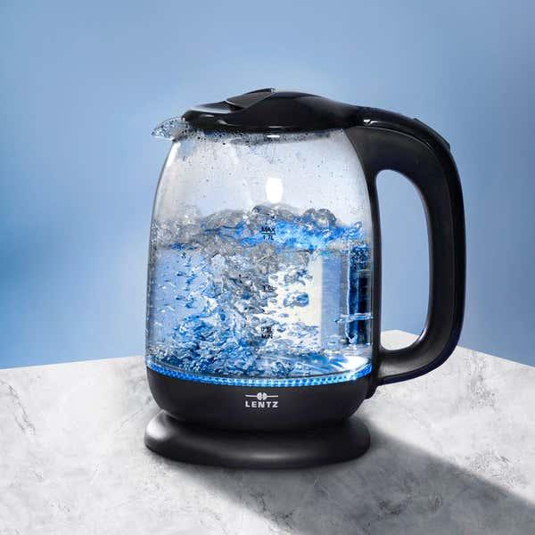 LENTZ Glaswasserkocher mit LED-Licht, ca. 1,7L
