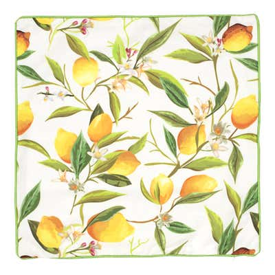 Kissenhülle mit Zitronen-Design, 40x40cm