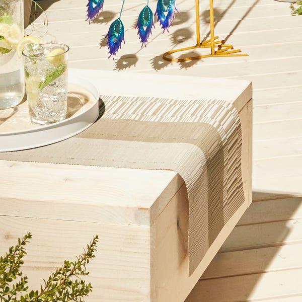 Tischläufer - Jacquard für Innen und Außen, ca. 30x140 cm