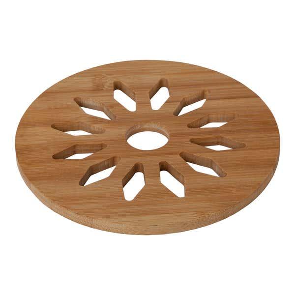 Bambus-Untersetzer mit Muster, Ø ca. 18cm, 2er-Pack