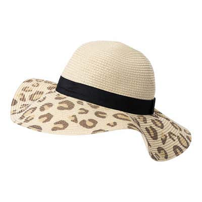 Damen-Hut mit Leoparden-Muster