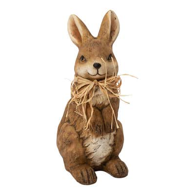 Deko-Hase mit Strohschleife, ca. 40cm