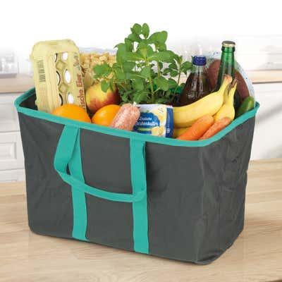 MAXXMEE Einkaufstasche mit Pop-Up-Meschnismus, ca. 36L