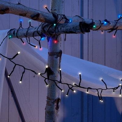 Solar-Lichterkette mit 300 LEDs