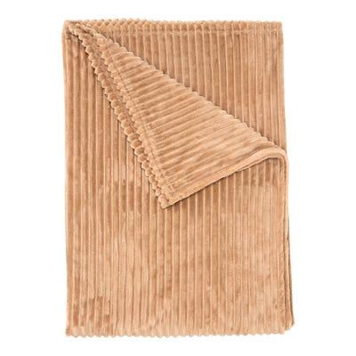 Flanell-Decke mit Struktur-Streifen, ca. 150x200cm