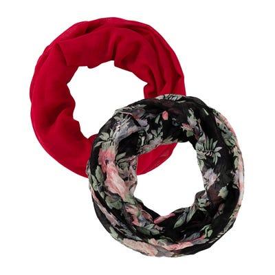 Damen-Loop-Schal mit schickem Muster, 2er Pack