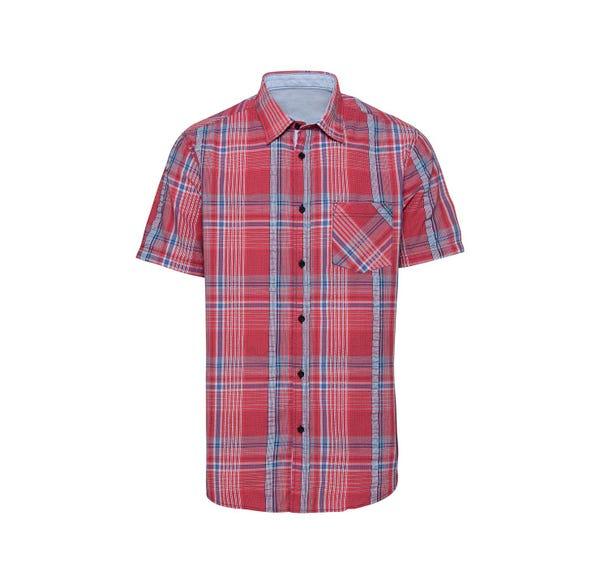 Herren-Seersucker-Hemd mit Kontrast-Innenband