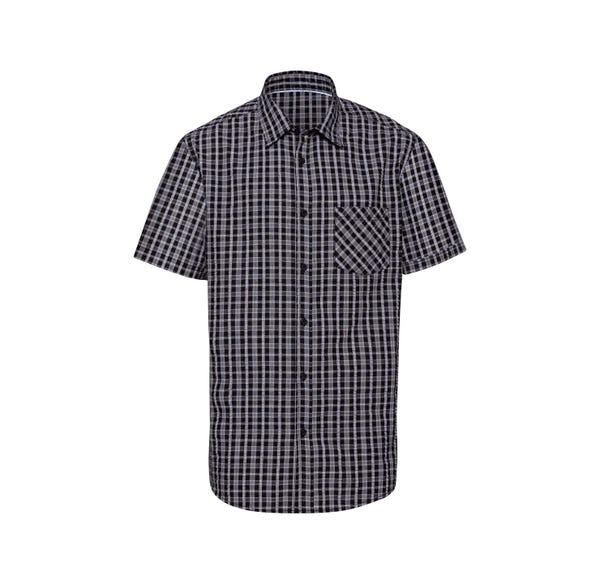 Herren-Seersucker-Hemd mit kleinen Karos