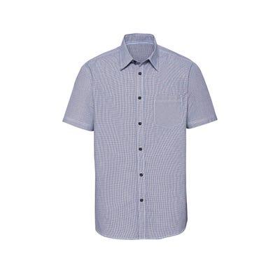 Herren-Hemd mit kontrastfarbenen Knöpfen