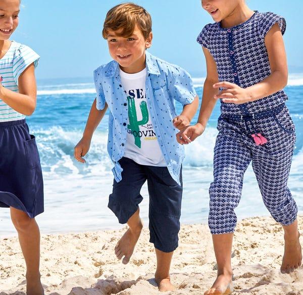 Jungen-Bermudas aus reiner Baumwolle