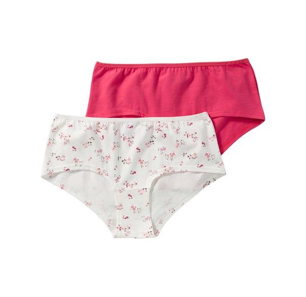 Damen-Panty mit hübschem Blümchen-Muster, 2er Pack