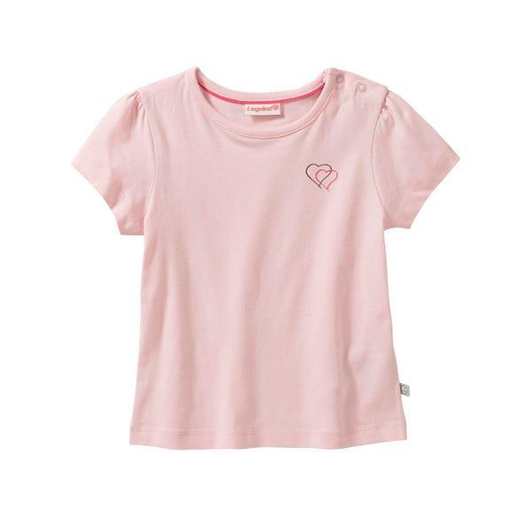 Baby-Mädchen-T-Shirt mit Herz-Aufdruck