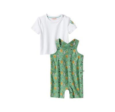 Baby-Jungen-Set mit Tier-Muster, 2-teilig