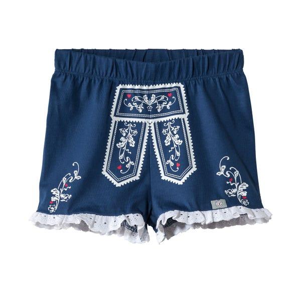 Baby-Mädchen-Trachten-Shorts mit Baumwollspitze