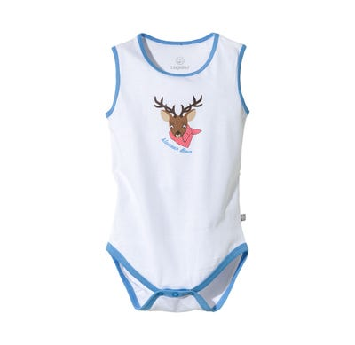 Baby-Jungen-Trachten-Body mit Hirschkopf-Motiv