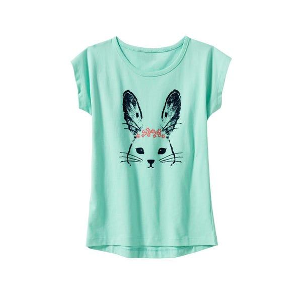 Mädchen-T-Shirt mit Hasen-Aufdruck