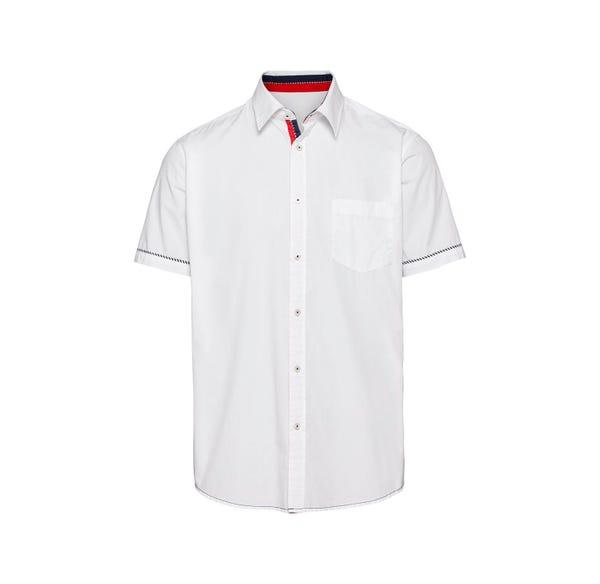 Herren-Hemd mit schickem Kontrast-Streifen