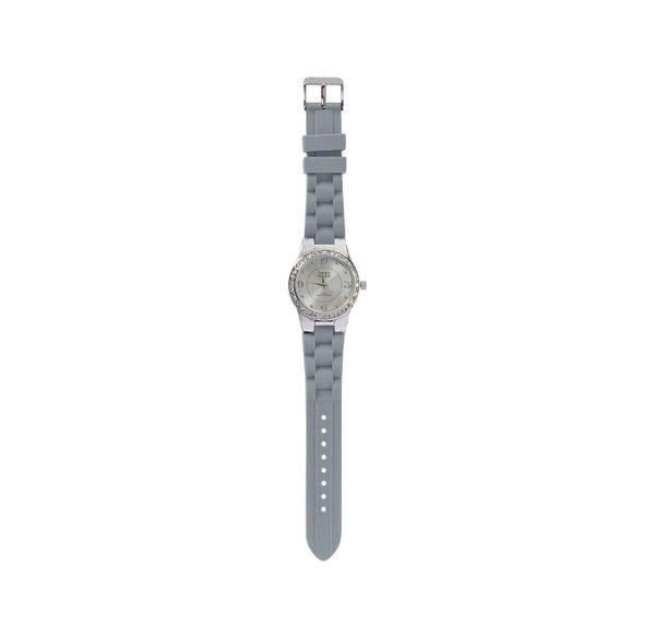Damen-Armbanduhr mit Glitzersteinchen