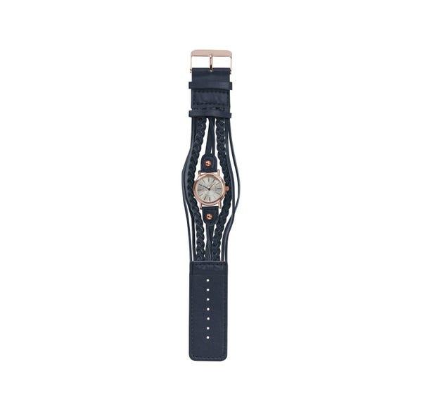 Damen-Armbanduhr mit geflochtenen Bändern
