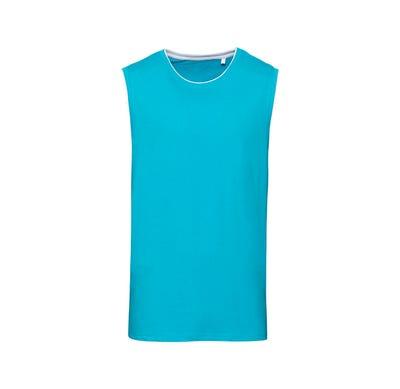 Herren-Muskelshirt in trendiger Sommerfarbe